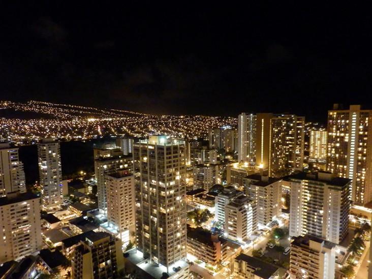 ハイアットワイキキ夜景