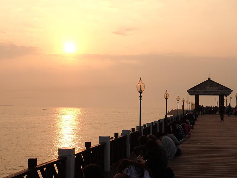 漁人碼頭の夕陽